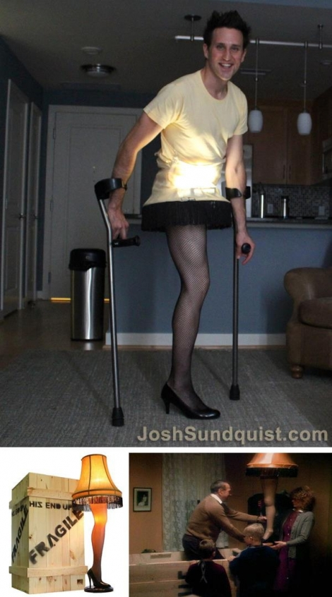 Amputee leg lamp costume